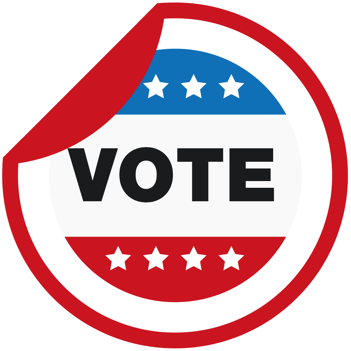 Vote Sticker Graphic